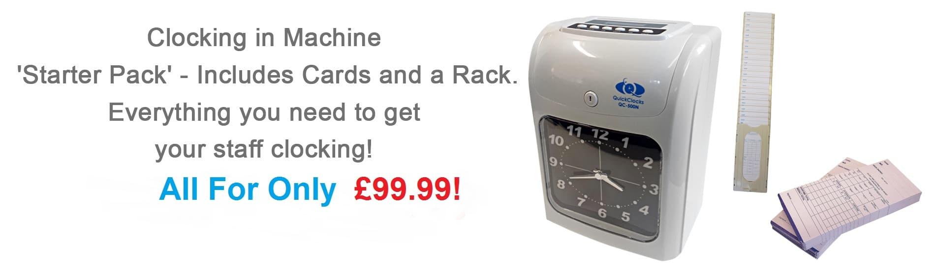 Clocking in machines starter packs